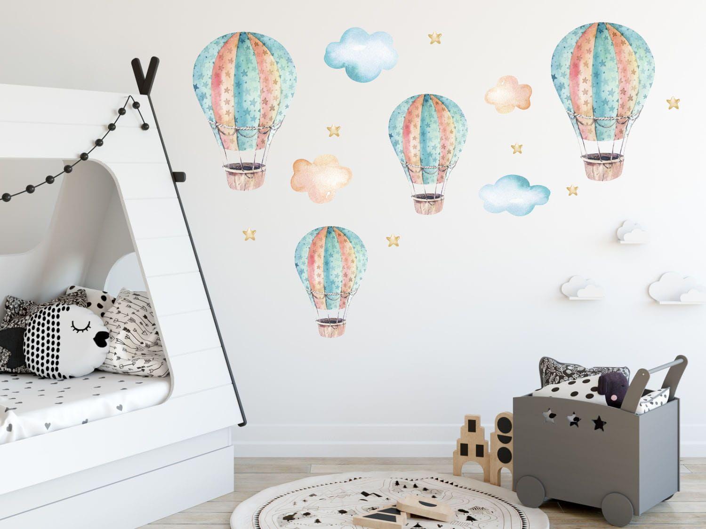 Naklejka Na Sciane Dla Chlopcow Balony Chmurki Home Decor Home Decor Decals Baby Mobile