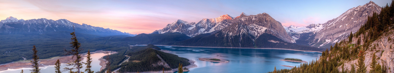 Mountains & Lake landscape [5760x1080] | เล็บเจ้าสาว