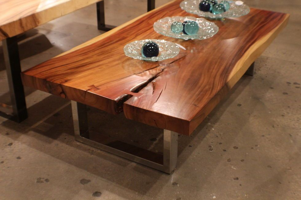 84 l coffee table solid thick slab