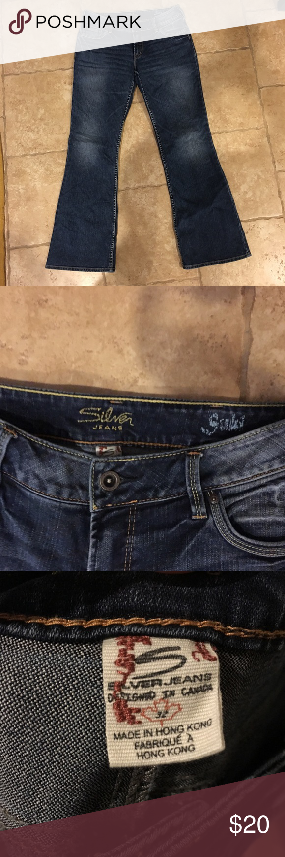 Silver boot cut designer jeans size 32 'SUKI' | Silver jeans, UX ...