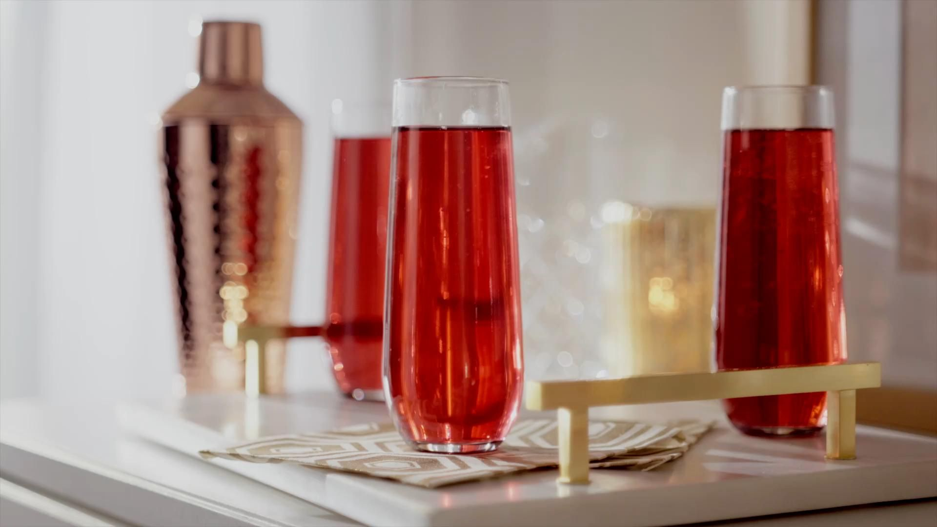 Tinsel your holiday toasts with fresh garnish, festive décor and fabulous eats. Your guests will happily raise their glass and clink. Get it all at Walmart.​