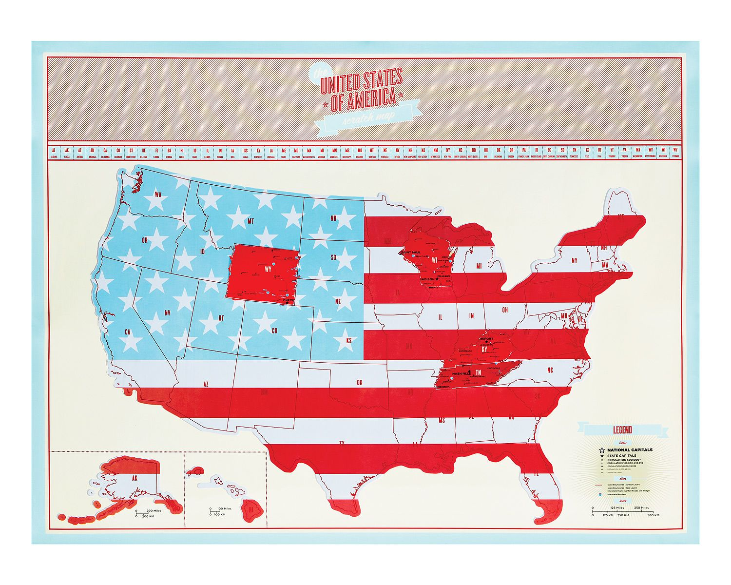 USA Scratch Map | Chart, Gift and Nifty