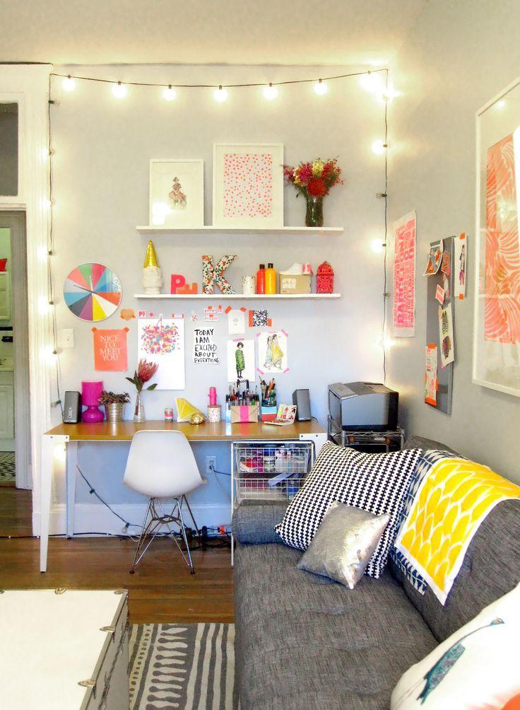Katies Very Bright Living Room Desk AreasDesk