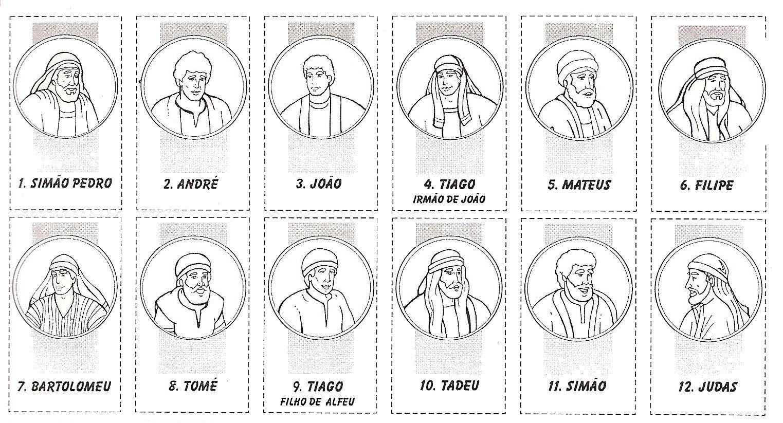 Laminas de los doce apostoles para imprimir atividade - Laminas para imprimir ...