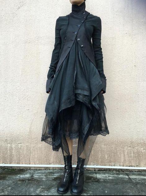 manteau fizaza noir tribal