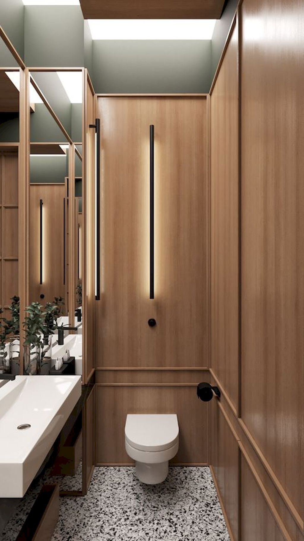 40+ Very Efficient Small Powder Room Design Ideas | Toilet ...