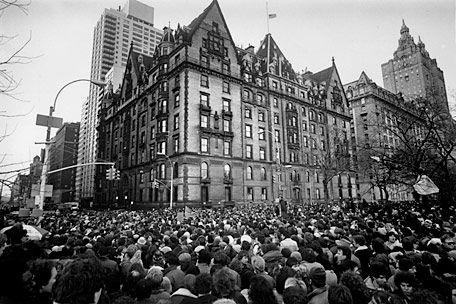 The Dakota Apartments Memorial Service For John Lennon