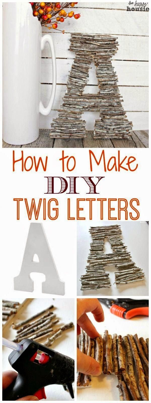 How to Make DIY Twig Letters | The Happy Housie