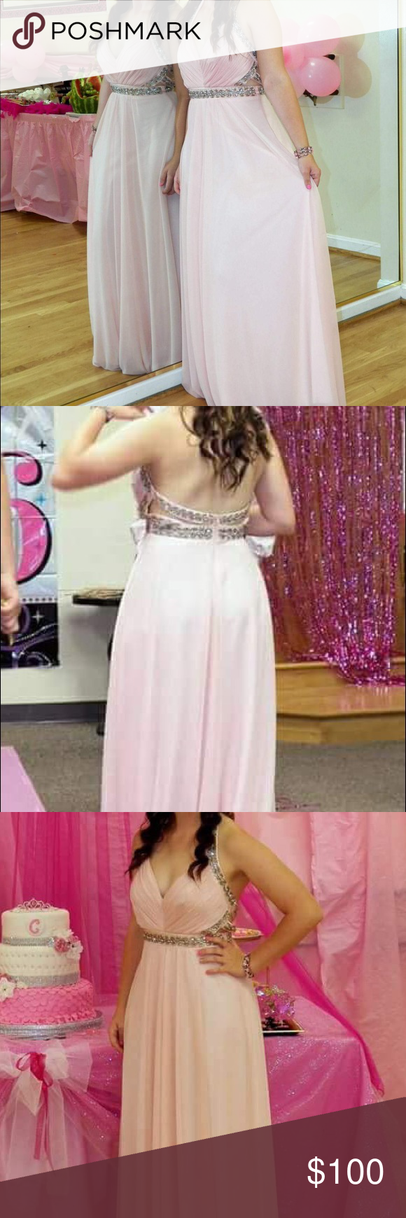 Light pink sparkly sweet sixteenprom dress my posh picks