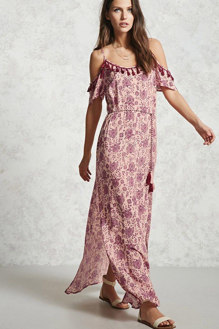 Vestido Maxi Paisley - Mujer - Nuevos - 2000144705 - Forever 21 EU ...