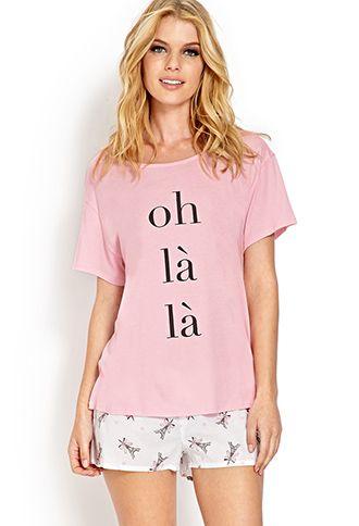 Oh La La PJ Set | FOREVER21 - 2000070811