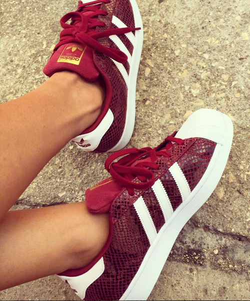 Adidas superstar bordeaux Instagram Rachelstyliste | zapatos
