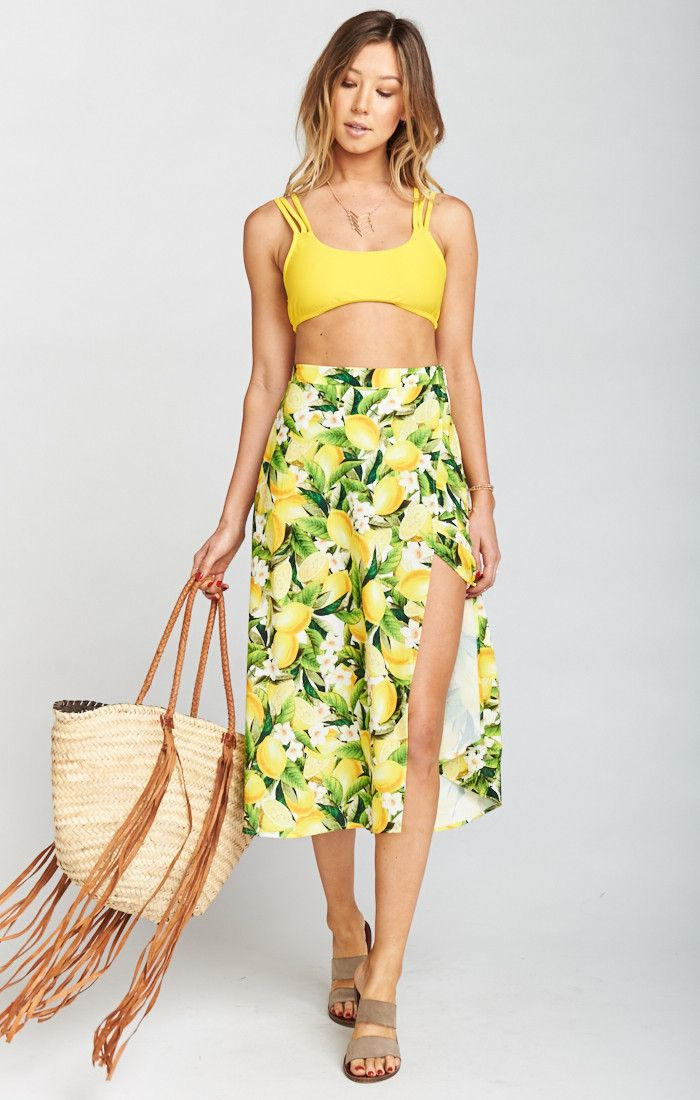 069676f5a6 South Beach Scoop Bikini Top ~ Daffodil