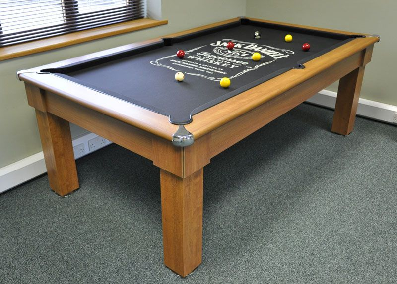 Perfect Signature Oxford Pool Table In Winchester Oak With Dining Tops