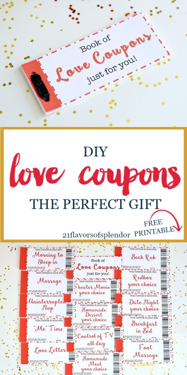 Free Printable Love Coupons The Perfect Gift Free printable - homemade coupons for boyfriend ideas