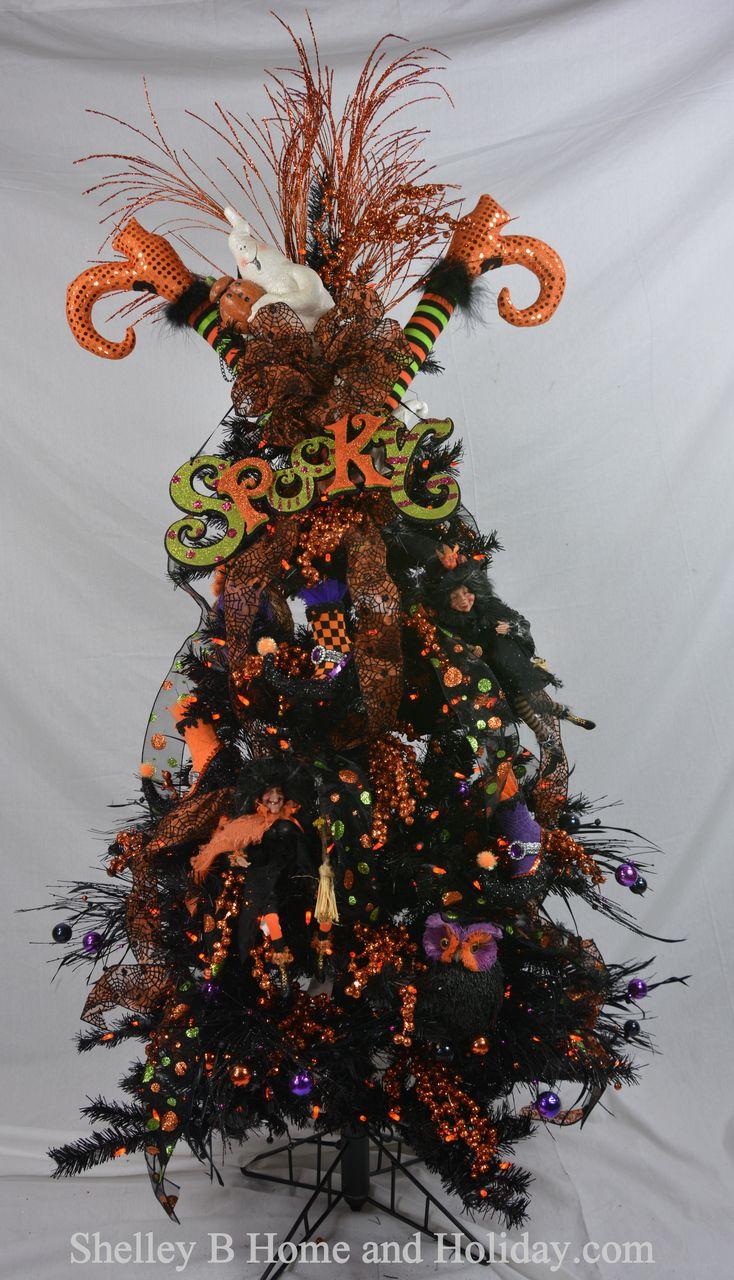 CHRISTMAS TREEShelley B Decorated Tree Halloween with