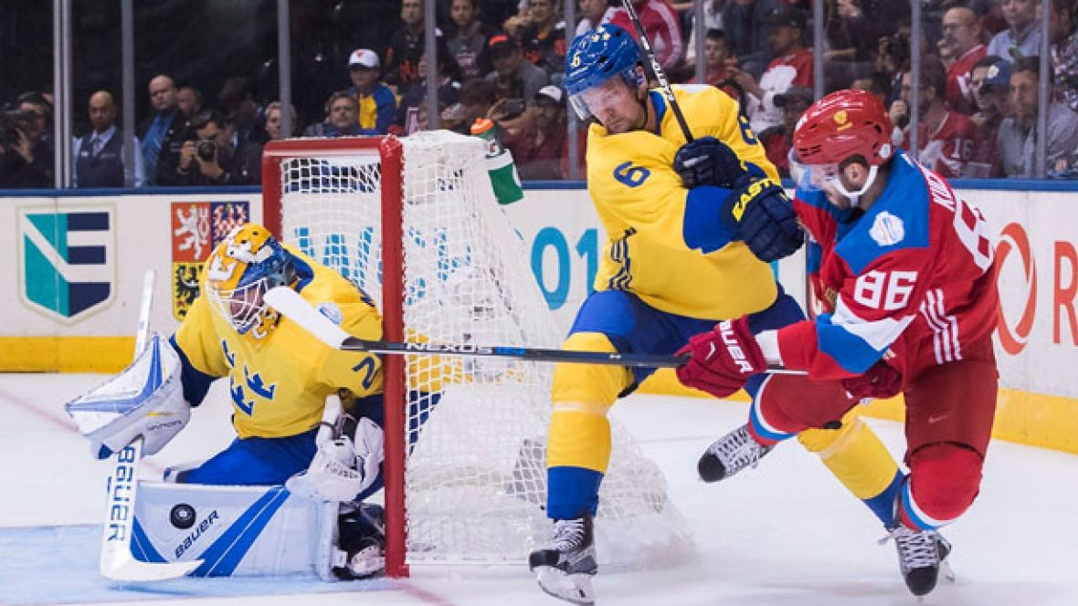 Sweden survives close call to stun Russians without
