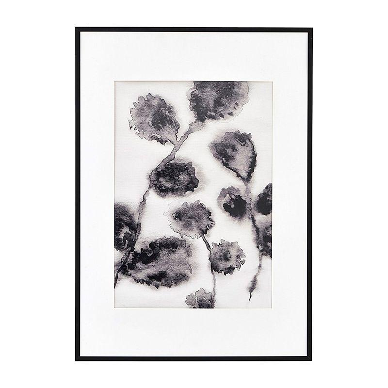 Illustration mit Rahmen Floral Black 42x59 cm von house doctor ...