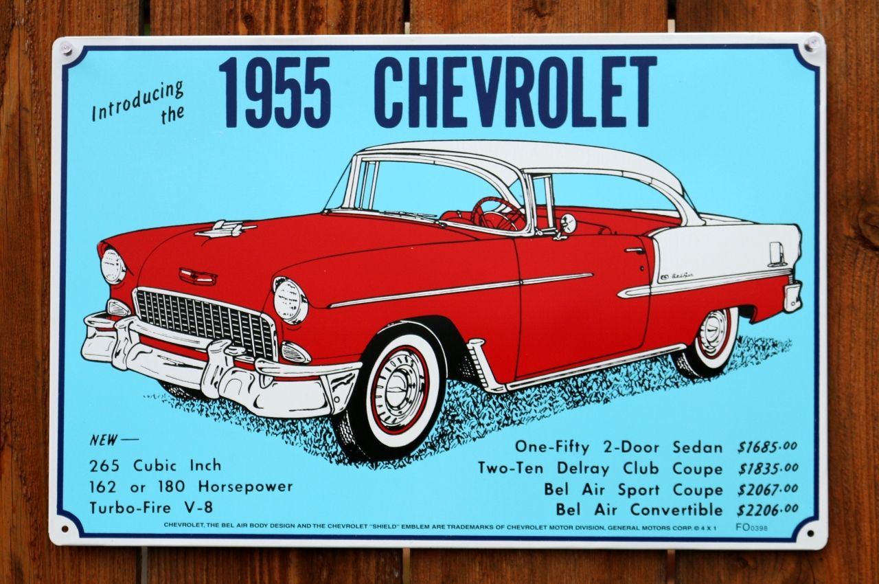 1956 Chevrolet Bel Air Restored New Metal Sign LARGE SIZE  12 X 16