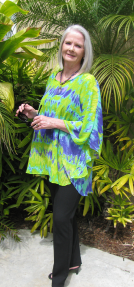 """$39.99  These colors POP together!  Lime Green & Purple Kimono Style Top.  This chiffon top looks stunning on all body types!  Find at: """"Faye Maxwell-California"""".  www.fayemaxwellcalifornia.com"""