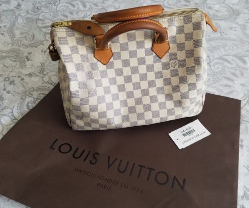 ad 100% Authentic Louis Vuitton Bag Speedy 30 Damier Azur Purse Handbag  N41533 http 43851725cbe