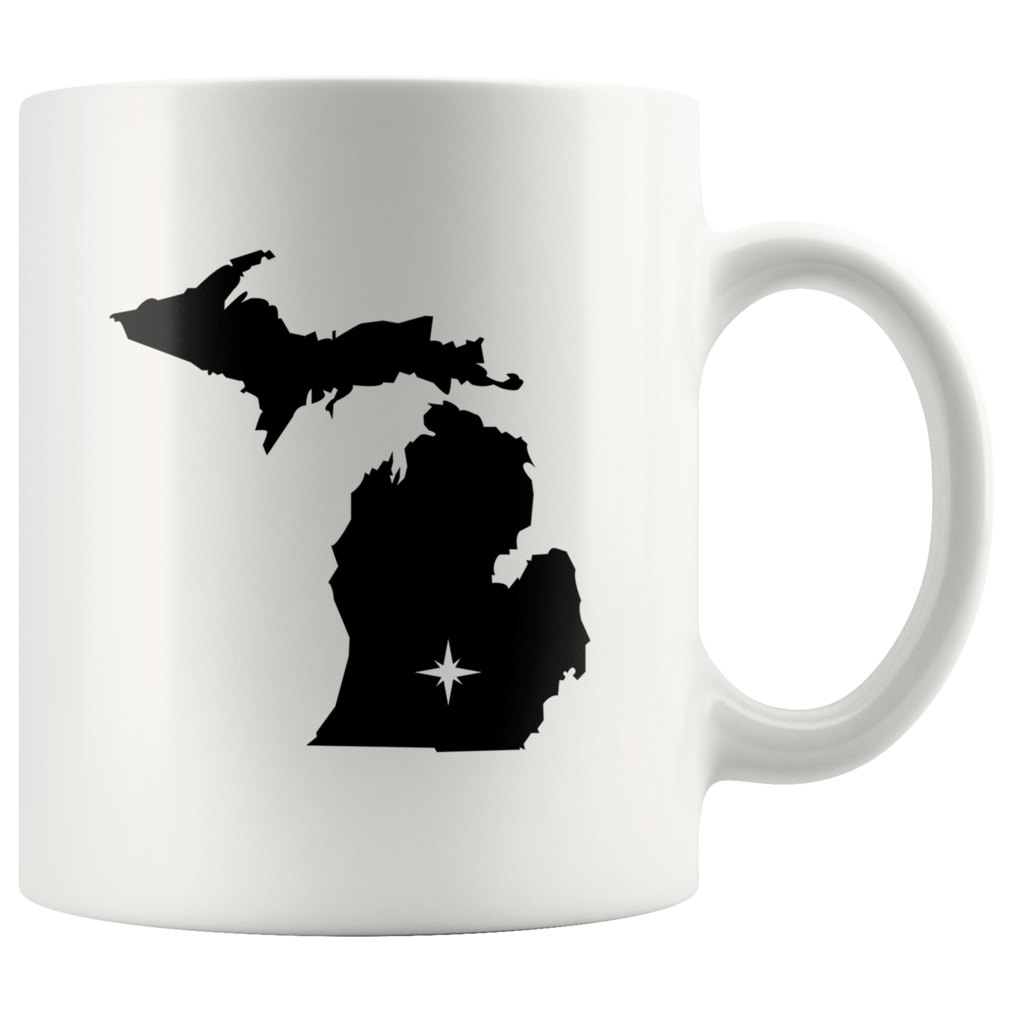 Michigan MI White Coffee Mug 11oz Free Shipping This