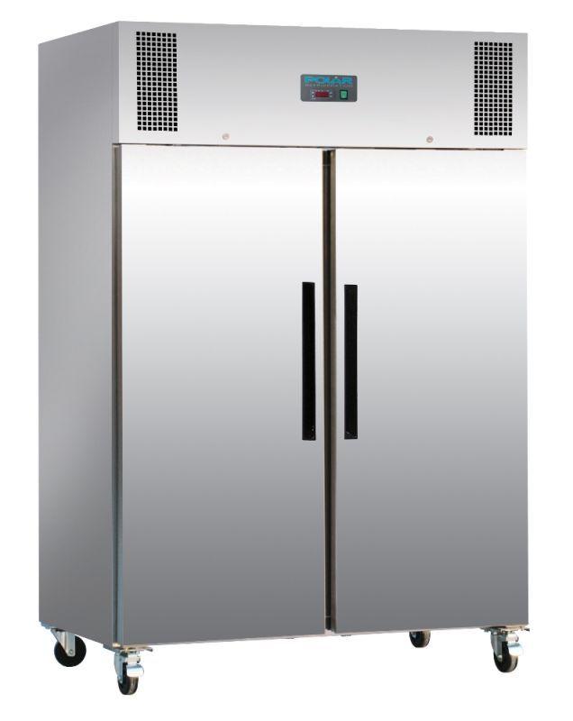 Polar G594 1200 Ltr Double Door Upright Commercial Fridge Stainless Steel Fridge Double Doors Double Door Fridge