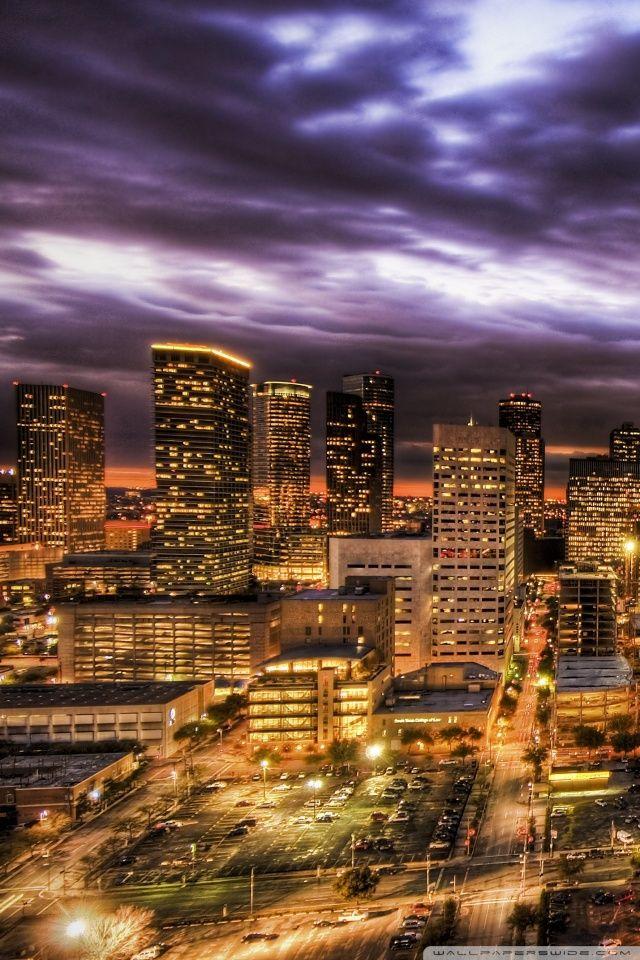Houston At Night HD Desktop Wallpaper High Definition