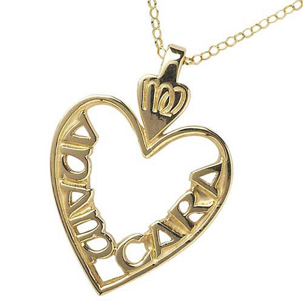 Large Gold Mo Anam Cara Pierced Pendant Irish jewelry