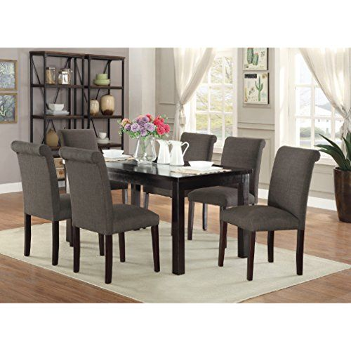 CDecor Bremerton 7 Piece Dining Set Black, Grey