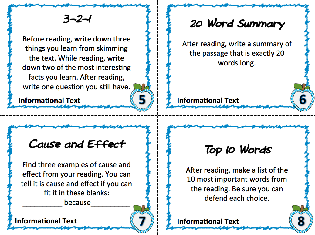 Free Textbook Task Cards Instant Common Core For The Content Areas