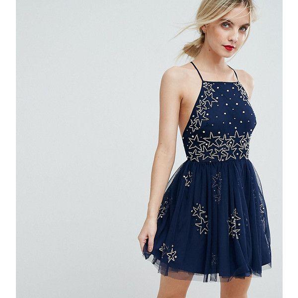 ASOS PETITE PREMIUM Cosmo Embellished Mini Prom Dress ($105 ...
