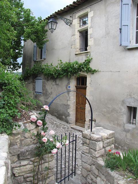 Entrance to our garden, Forcalquier, Alpes de Haute Provence, France