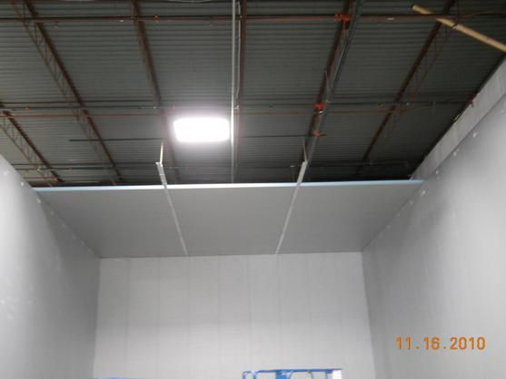 Warehouse Cold Storage Room Project--Colorado Week 3 Ceiling Construction | Amerikooler & Warehouse Cold Storage Room Project--Colorado Week 3 Ceiling ...
