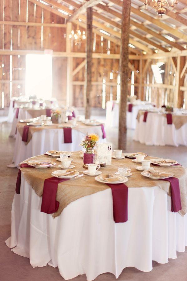 Burgundy Masala Gold Tablescape Wedding Barn Wedding Tablescape