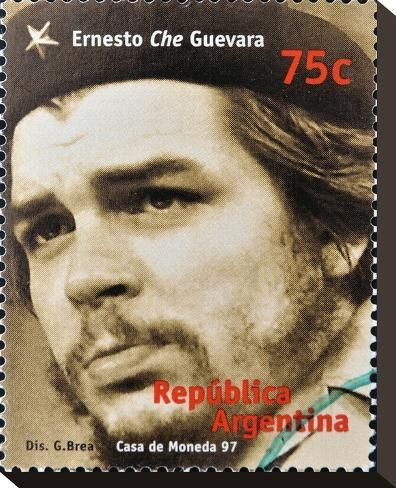 'Che Guevara Stamp Argentina'97' Stretched Canvas Print - | Art.com
