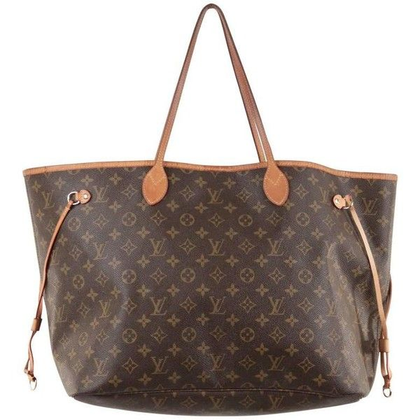 Preowned Louis Vuitton Monogram Canvas Neverfull Gm Bag Tote Shoulder... ($943) ❤ liked on Polyvore featuring bags, handbags, shoulder bags, multiple, brown tote, louis vuitton shoulder bag, monogram canvas tote, tote shoulder bags and louis vuitton tote