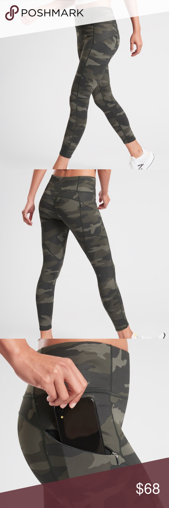 Photo of Athleta Camo Contender 7/8 Tight in Powerlift XS FOR: Medium and high impact wor…