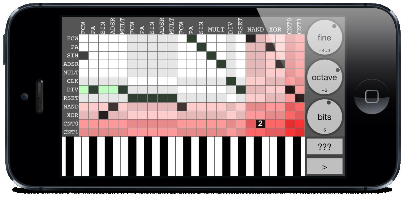 Bent-Tronics: Circuit Bending type synth app, bent fm lite