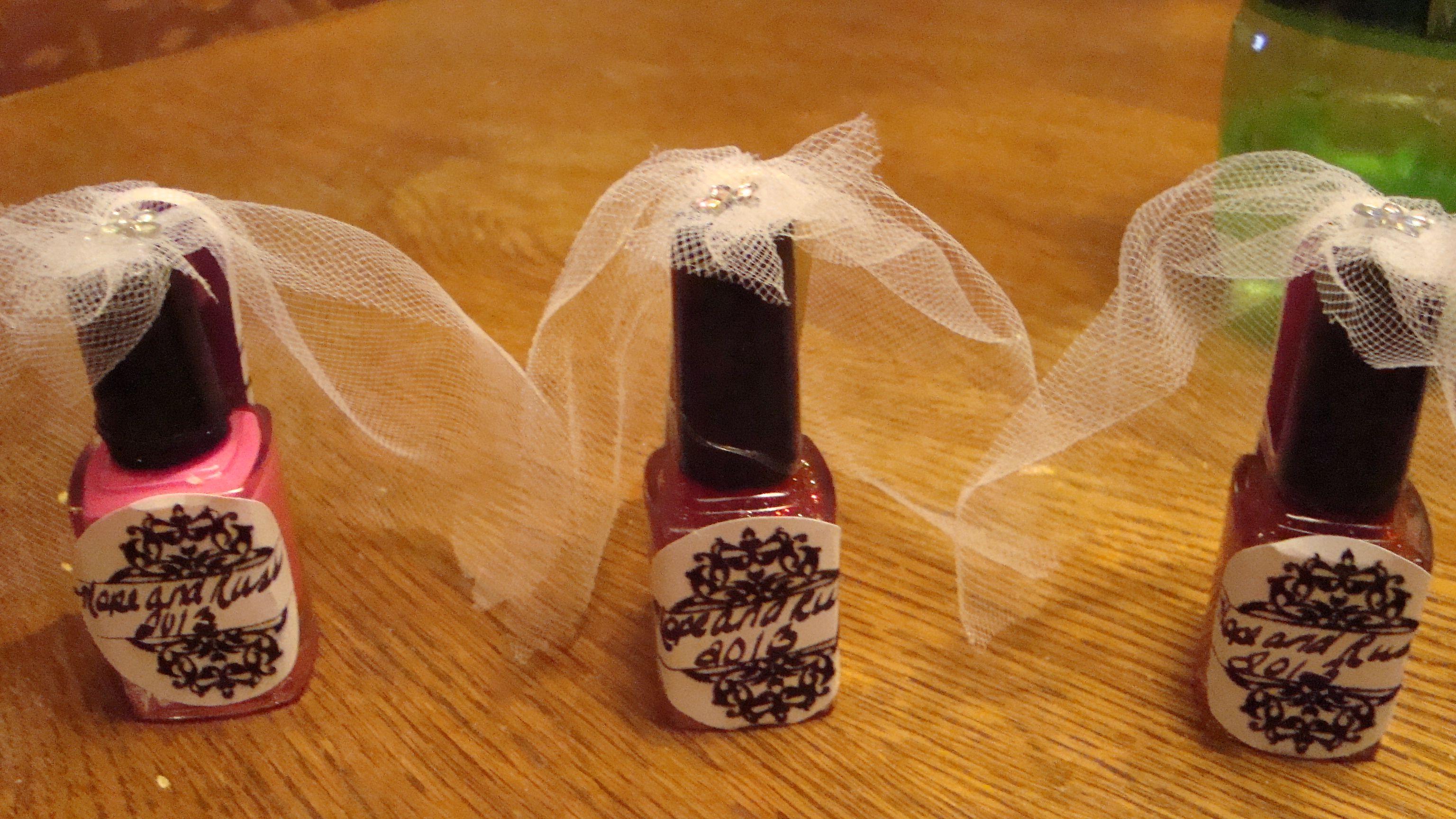 Nail Polish Brides For Bachlorette Party Favors PartyBachelorette