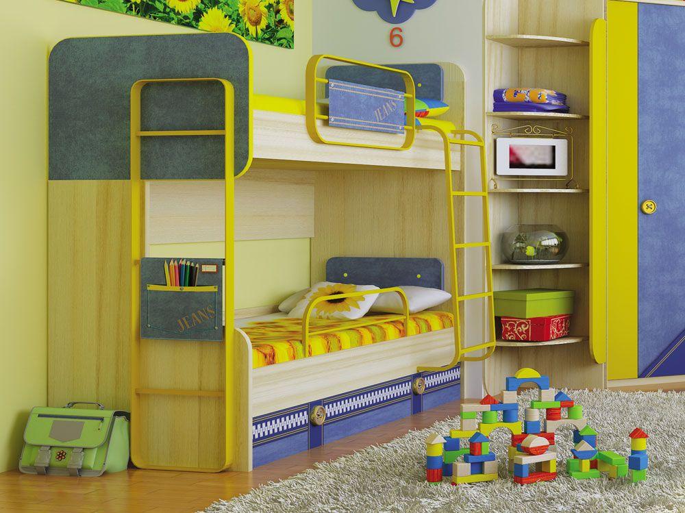 d53327417528 Купить Джинс кровать двухъярусная 507.150, Детская - Двухъярусные кровати в  Москве | Цена, размеры, инструкция по сборке, отзывы | Интернет-магазин  мебели « ...