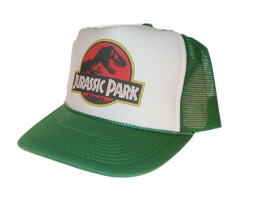 b7e3d6e6f24 Jurassic Park movie hat Trucker Hat Mesh Hat green