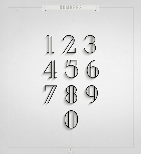 10 Modern Free Fonts For Your 2015 Design Projects Numbers Typography Numbers Font Modern Fonts Free