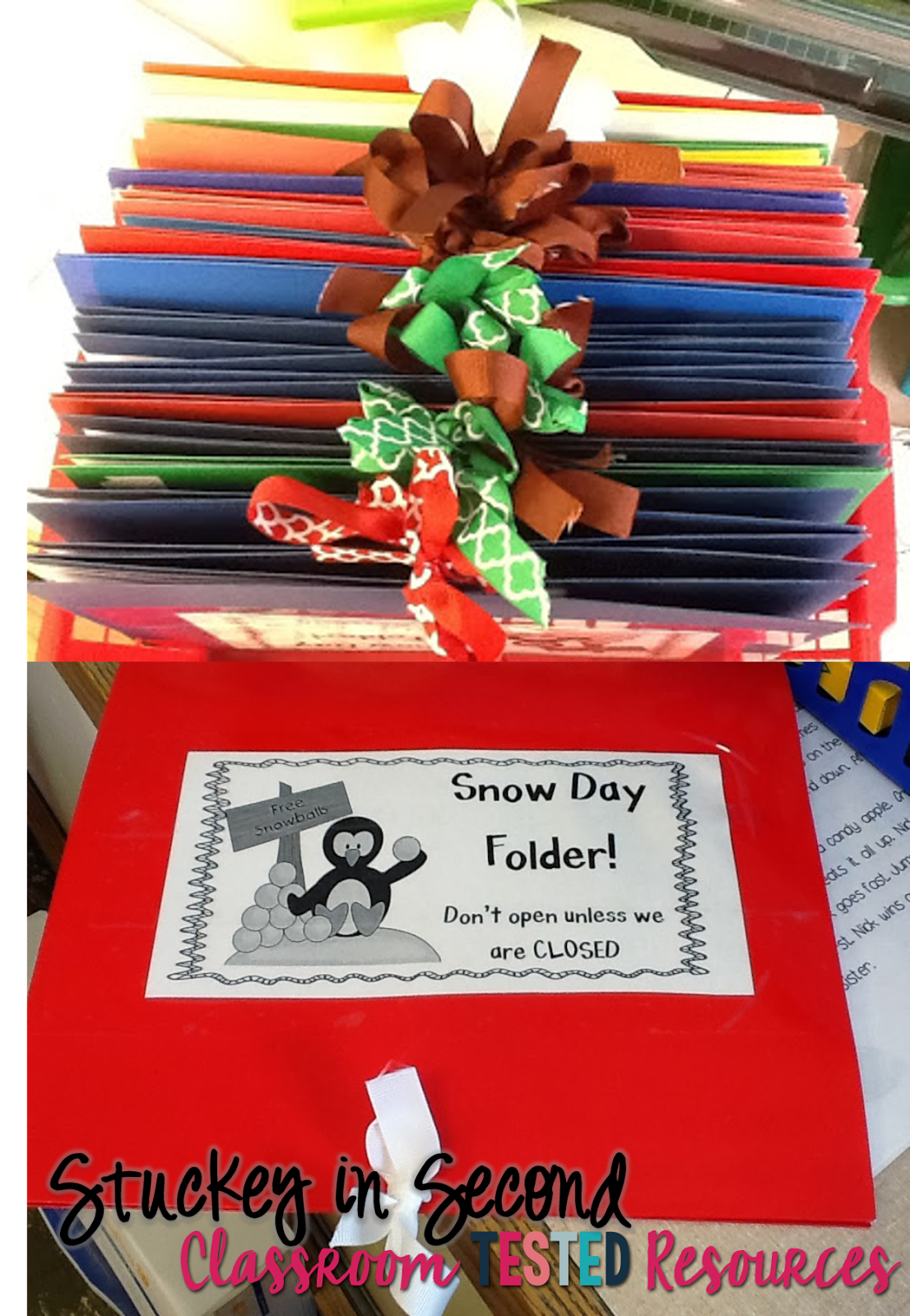 Snow Day Folders