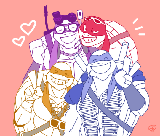 Donnie,Raph,Leo and Mikey by Mosaic47 | Ninja Turtles