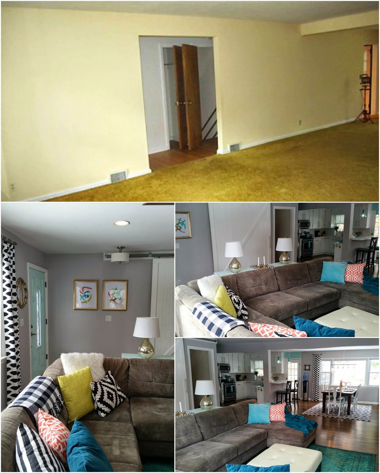 Living Room Renovation Before And After retro ranch reno: our rancher: before & after - the living room