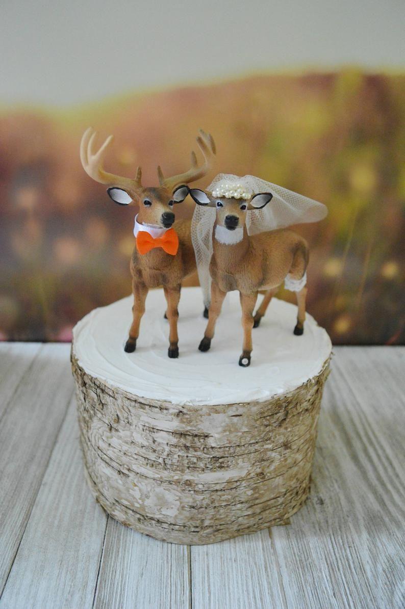 Doe and buck cake topperdeer wedding cake topperhunting