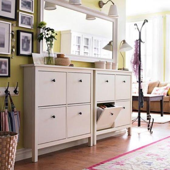 loving the ikea hemnes for shoe storage left of hallway at entrance deco maison hemnes. Black Bedroom Furniture Sets. Home Design Ideas