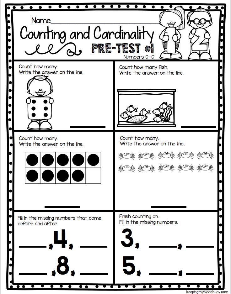 Counting And Cardinality Freebies Keeping My Kiddo Busy Kindergarten Math Kindergarden Math Kindergarten Math Assessment