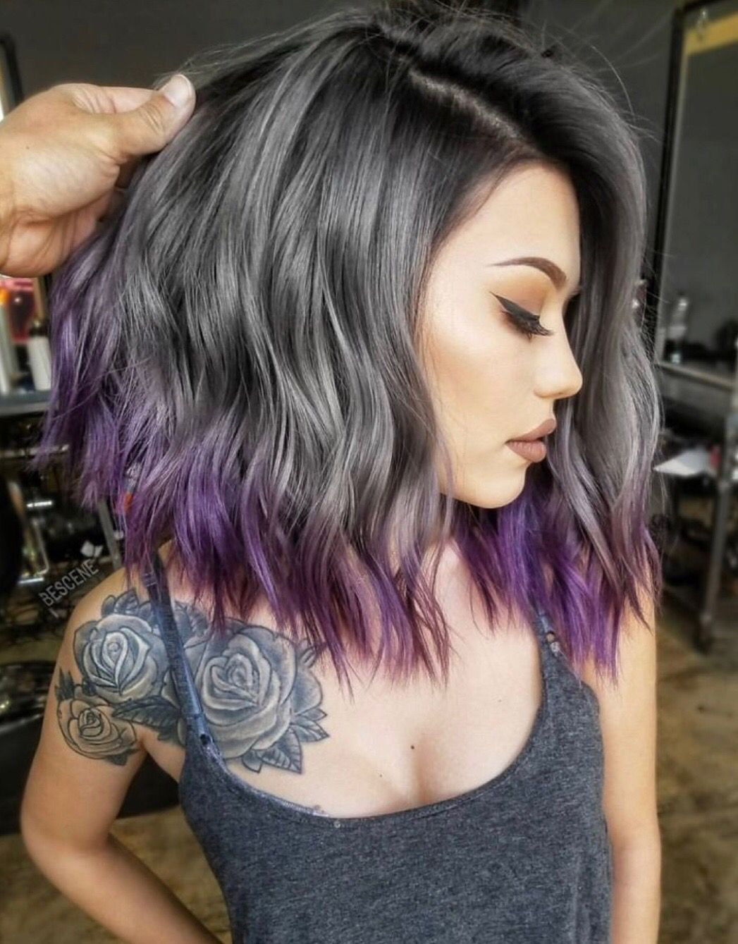 Image result for short silver purple hair color hair color pinterest